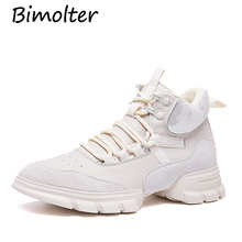 Bimolter Brand Fashion Women Platforms Genuine Leather Casual Shoes Woman Flats Shoes Ladies Lace-up Sport Sneakers Shoes NB080 2017 fashion brand full genuine leather women spring thick sole flat platforms single shoes woman lace up stonepattern heel shoe