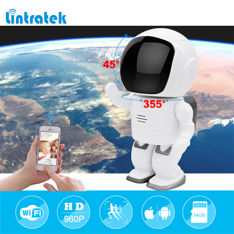 lintratek Robot Camera IP Wifi Baby Monitor hd 960P Wireless CCTV Surveillance Home Security Camera IR Night Vision Camara IPcam howell wireless security hd 960p wifi ip camera p2p pan tilt motion detection video baby monitor 2 way audio and ir night vision