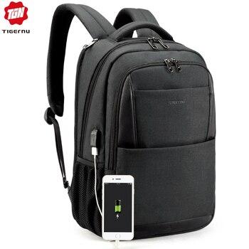 Tigernu men backpack anti theft USB charging 15.6 Laptop backpacks mochilas feminine male bagpack notebook college schoolbag laptop bag
