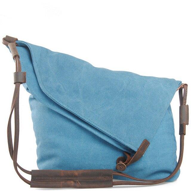 Fashion Women Handbag Canvas Shoulder Bag High Quality Messenger Crossbody Bags Satchel Solid Color Casual Tote Female Brand