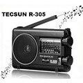Venta al por menor-wholesal tecsun r305 radio digital fm mw sw bandas tv r-305 receptor de radio portátil con altavoz incorporado envío gratis