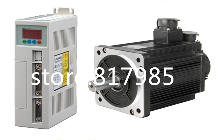цена на High quality AC Servo motor and driver 4N.M 1.0KW 2500RPM Servo Motor 80ST-M04025 + Matched Servo Driver Free shipping