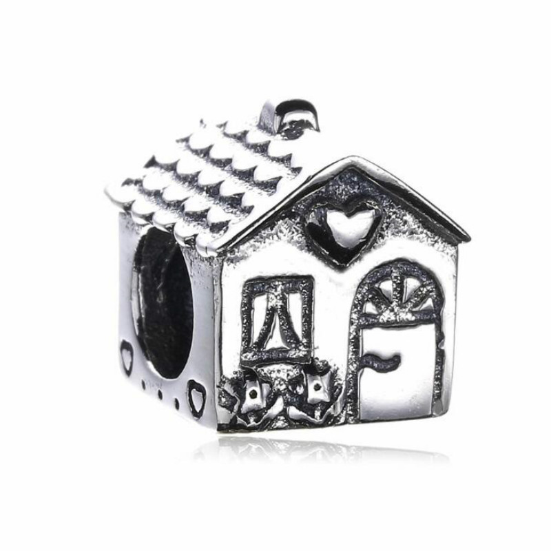 100% 925 Silver DIY Beads Accessories New Cozy Cabins Fits European brand style Bracelets & Necklaces Jewelry Making