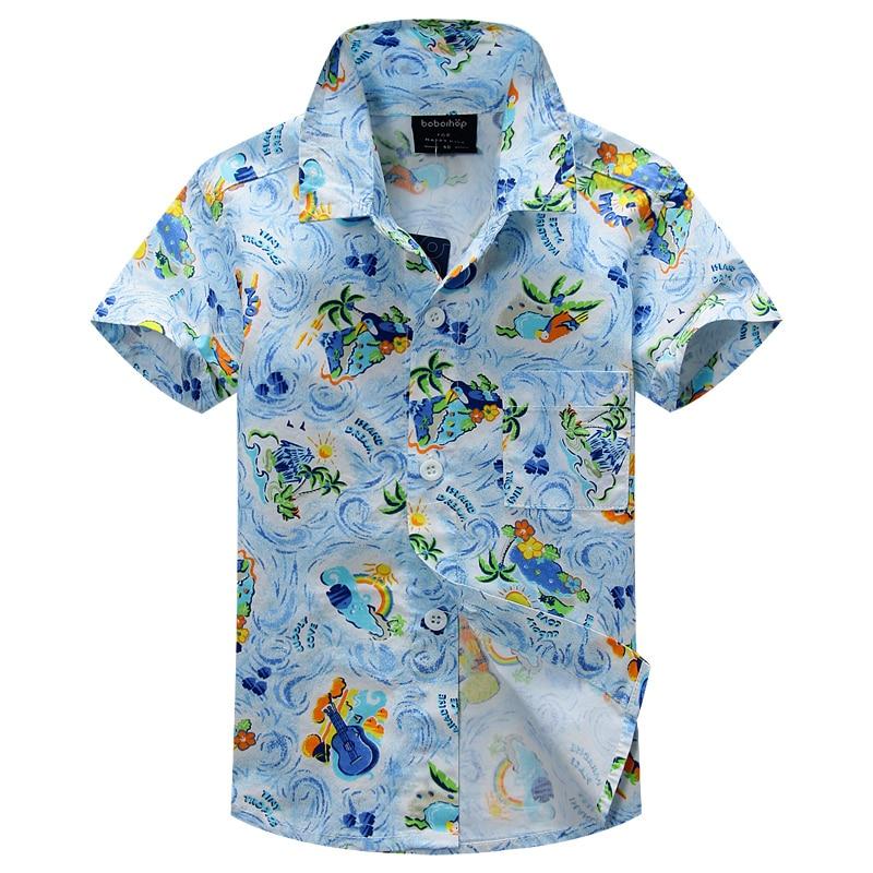 cotton 100% floral shirt hawaiian shirt aloha shirt for boy T1505