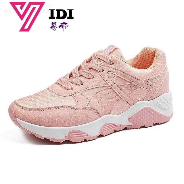 Spring New Designer Wedges Pink Platform Sneakers Women Shoes 2018 Tenis  Feminino Casual Female Shoes Woman Basket Femme White 1d59d0efc11f