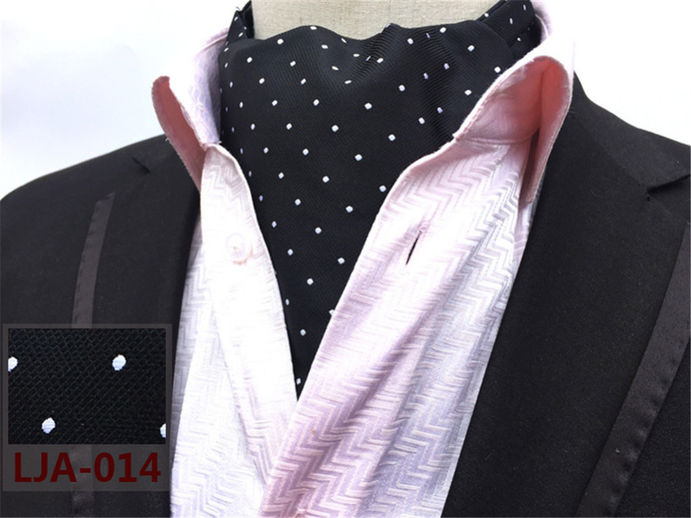 Cityraider Brand Designer New White Dot Print Mens Silk Cravat Wedding Neckties Men S Ascot Ties For Tie Necktie Blue Cr013 In Handkerchiefs From