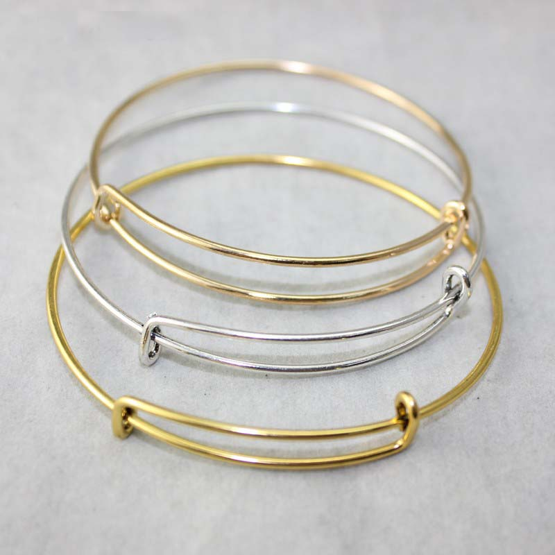 Aliexpress Com Wire Bangle Bracelets Usa Diy Jewelry Accessories Whole Cable Adjule Expandable Charm Love Bracelet 10pcs From