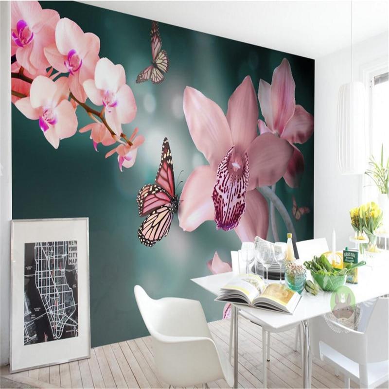 Beibehang wallpaper mural wall sticker modern beauty for Butterfly mural wallpaper
