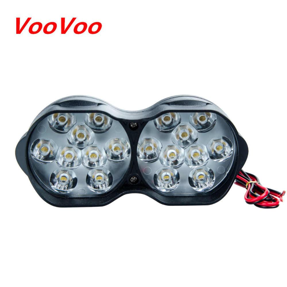 Reflektor led motocyklowy Moto reflektory motocykl światła reflektor led skutery lampa przeciwmgielna biały 6000K DC 9-85V Super Bright