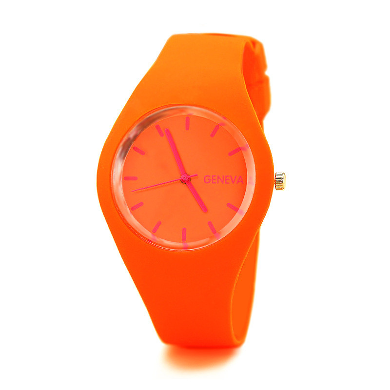 Women Watches Clock Jelly Silicone Ladies Zegarek Quartz Reloj Fashion Luxury Brand Genvan
