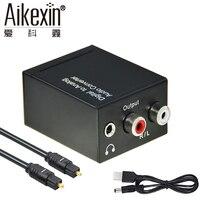Aikexin DAC Digitale Audio Analoog Converter Optische Toslink Coax naar Analoog R/L RCA Audio Adapter met 3.5mm Jack Uitgang
