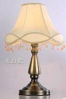 Лампы настольные лампы Модные античная ткань деревенский спальня ночники