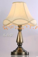 Lamps table lamp fashion antique cloth rustic bedroom bedside lamp