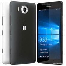100% Оригинальные Microsoft Lumia 950 разблокирована сотовый телефон 20MP Камера NFC Quad-Core 32 ГБ Встроенная память 3 ГБ Оперативная память LTE FDD WI-FI GPS 4 г телефон