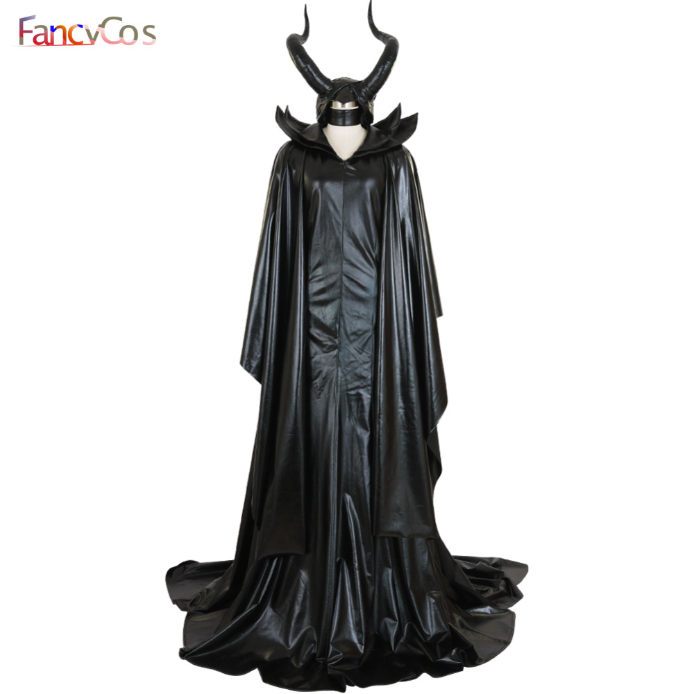 Halloween Maleficent Angelina witch Dress Sleeping Beauty Hat Cosplay Costumes Adult Costume ovie High Quality Deluxe