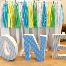 14 Inch Long Solid Color Tissue Paper Garland Wedding Party Decoration