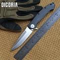 DICORIA fibra de carbono ZT 0999 Tactical Flipper cuchillos S35VN hoja de fibra de carbono + titanio cuchillo plegable camping EDC herramientas