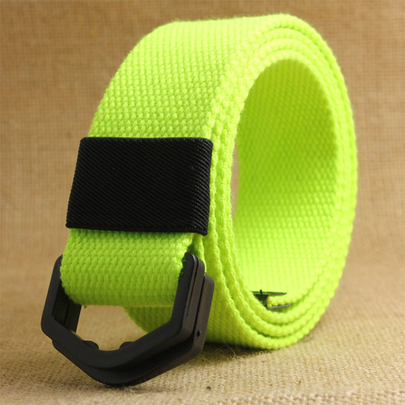 Casual D Ring Buckle Plain Canvas   Belt   Canvas   Belts   Women Men Luxury Black Waistband Plastic Buckle Waistband Waist   Belt