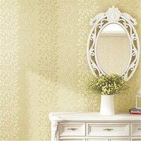 Beibehang Papel De Parede Korean Wallpaper Floral Nonwovens Simple Bedroom Wallpaper Warm Bedroom Living Room Study