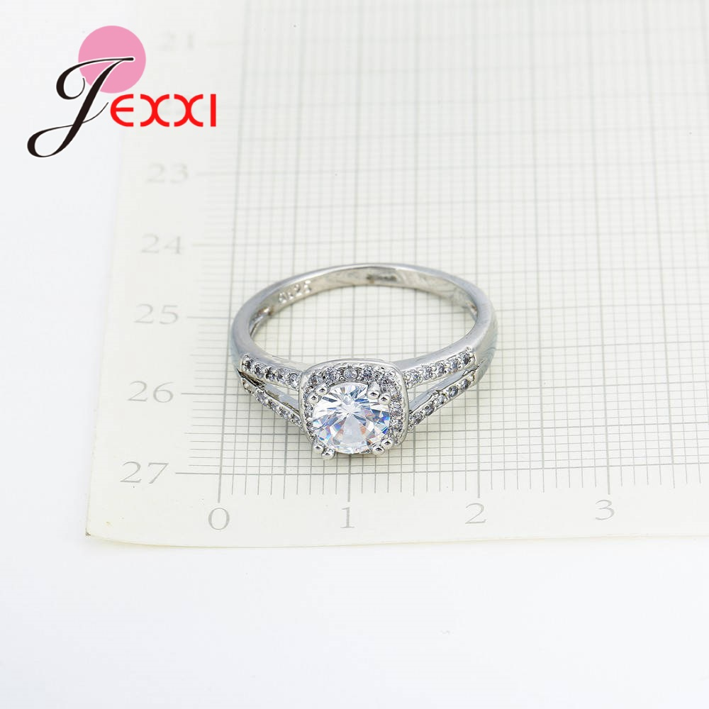 Dainty Top Quality Trendy Romantic AAA Cubic Zirconia Women Wending Ring Design 925 Sterling Silver Engagement Jewelry 4
