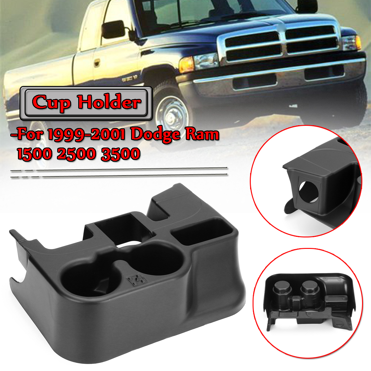 New Car Add on Cup Holder For Dodge 1999-2001 Ram 1500 Ram 2500 Ram 3500 Passenger Black Door Drinks Holder Adapter SS281AZAA bruder пикап ram 2500