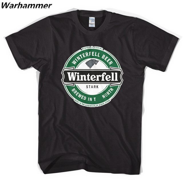 Game Of Thrones A Song of Ice and Fire Winterfell Cotton O-neck Men's T-Shirt