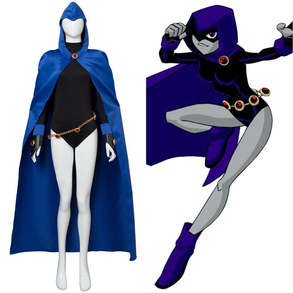 Teen Titans Raven Cosplay Costume Full Set mars pattern warhound titans full set f006
