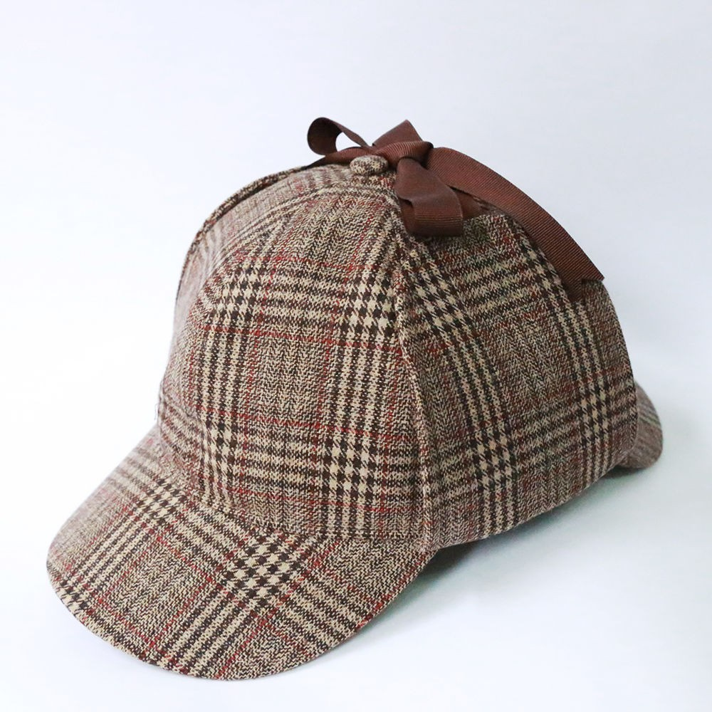 Sherlock Holmes Hat Novelty Gifts Deerstalker Cosplay Hat Detective Cap Unisex Movie Costumes Flat Caps Hip Hop Accessories