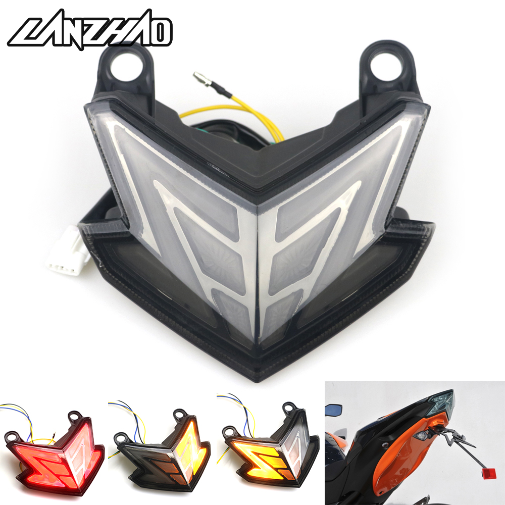 2018 New Motorcycle LED Tail Light Running Stop Brake Rear Warning Signal Lamp for Kawasaki NINJA ZX6R ZX-6R 636 Z800 2013 2014