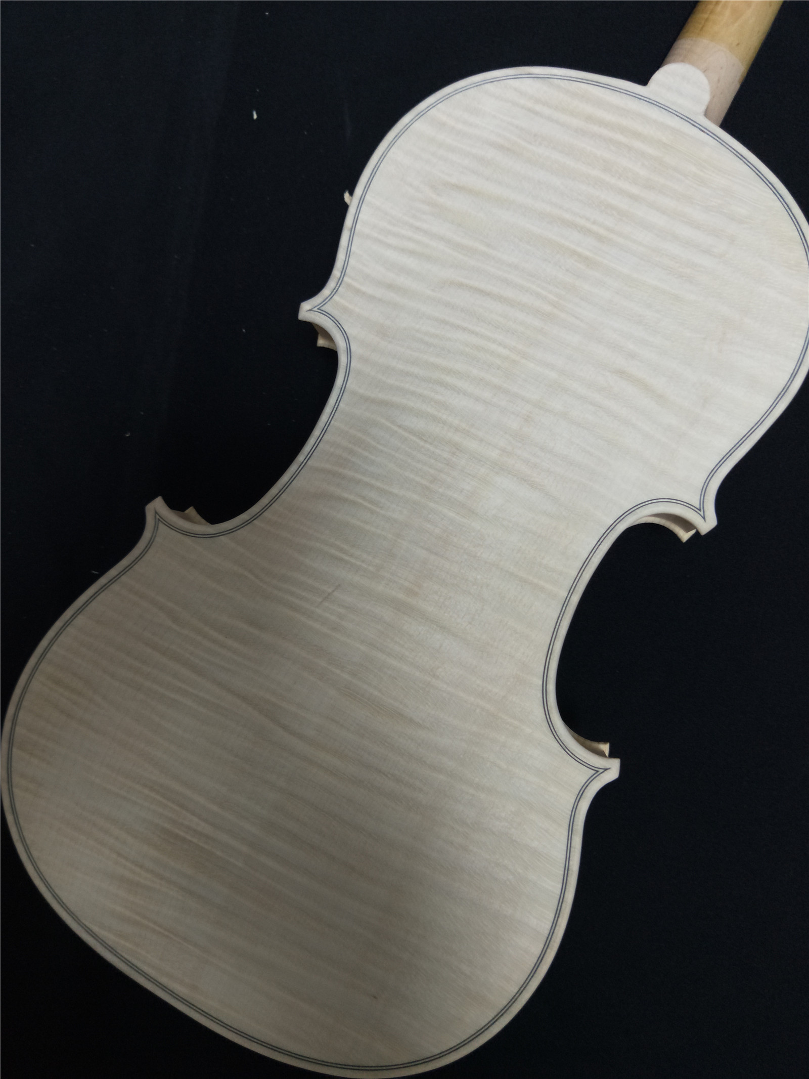Free Shipping Hand Make White Violin 4/4 with One Whole Piece Back Nice Wood Grains Spruce Top Quality Unfinished Violin austrian spruce ch j b collion mezin copy french master violin no 1408 nice sound antique violin100% handmade