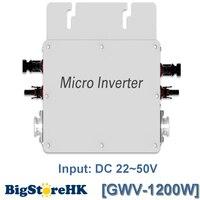 Waterproof1200W 22-50VDC Ingresso Uscita 80-160VAC Energia solare del Legame di Griglia Micro Inverter con Funzione di Comunicazione per 36 V PVSystem