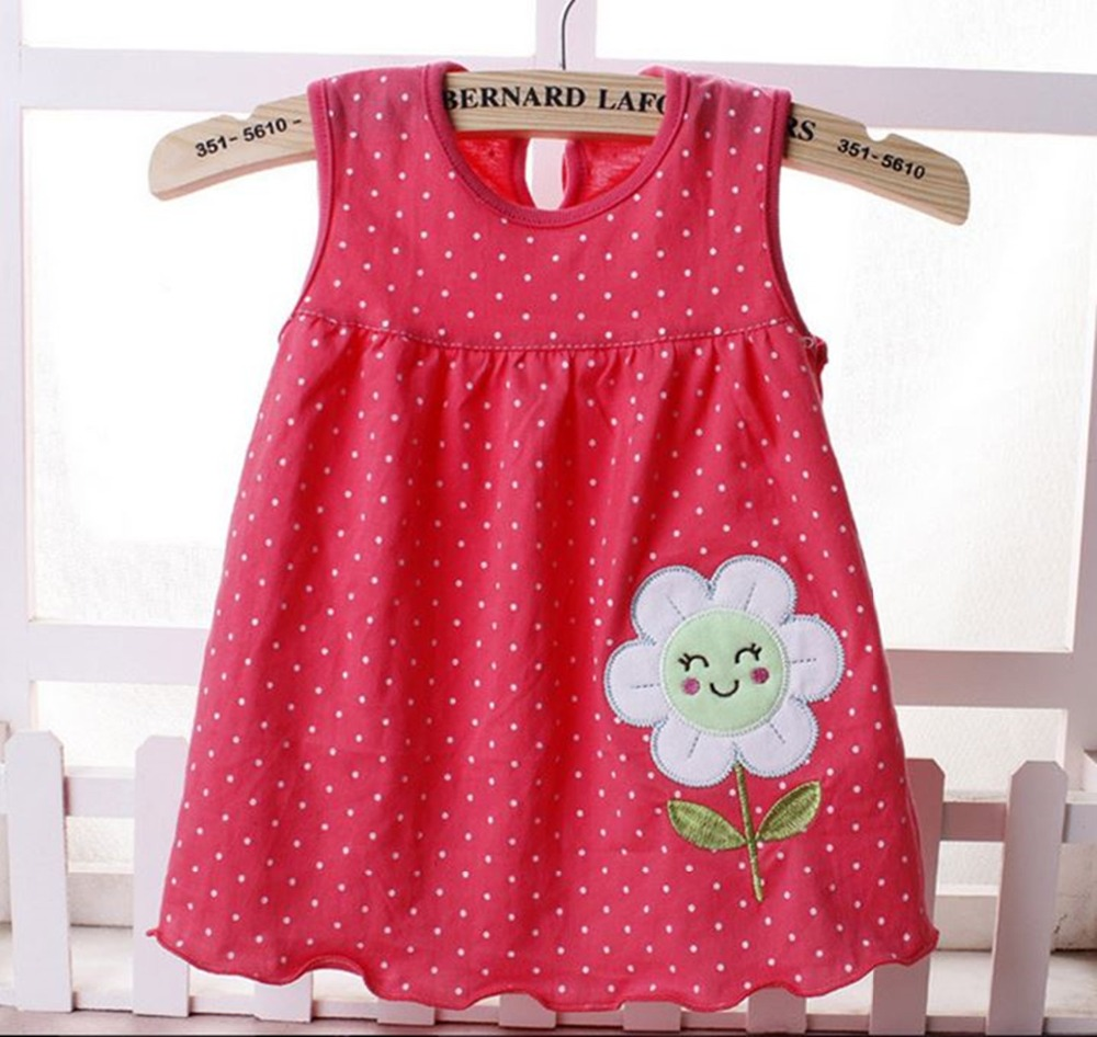 2017 New Style Baby Dress Princess for Infant Summer Multicolor Stripes Baby Girl Dresses Newborn Girls Cutton Clothes 0-18month