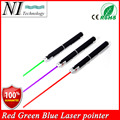 Super Powerful 3PCS Laser Pointer Blue Green Red Puntero Laser Beam Light 5mw Military Laser Pointer Pen Presenter Canetas Laser