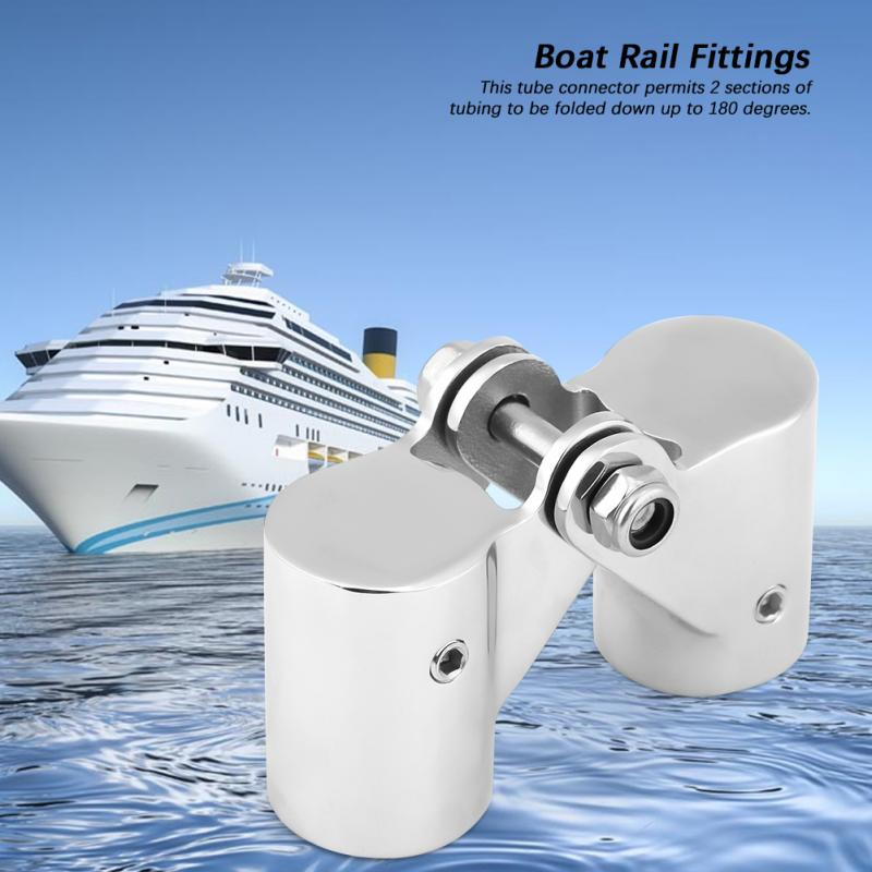 Automobiles & Motorcycles 1pcs 316 Stainless Steel Folding Swivel Connector Boat Rail Tube Pipe Fittings For Marine Yacht New Professional Marine Hardware