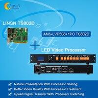 Original Led Video Processor AMS LVP508 Led Sending Card Linsn TS802D Video Wall Processor With Full