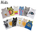 Kids Boys Girls Wolf Flamingo Vest Baby Camisoles Girls Baby Tank Toddler Summer infant Tshirt Clothing