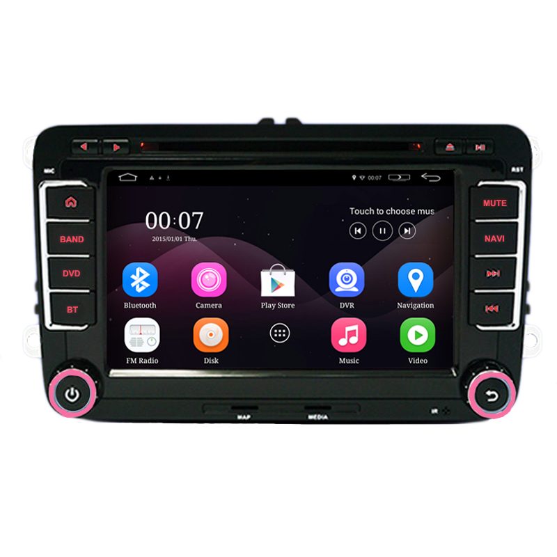 7 Capacitive Screen Quad Core font b Android b font 4 4 Car DVD GPS Can