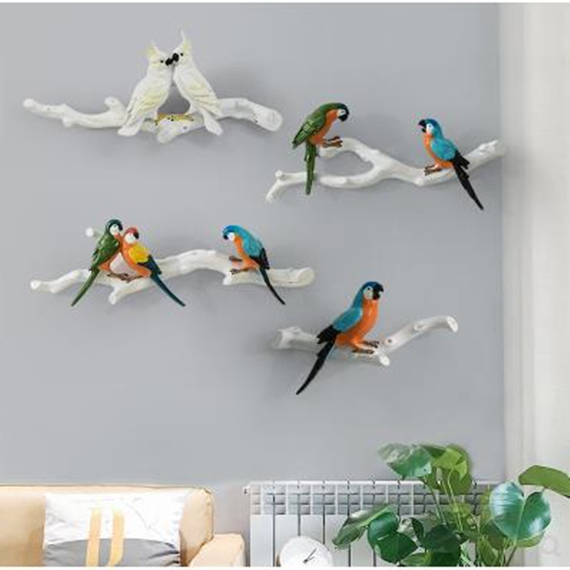 Beautiful parrot bird, wall decoration crafts, home accessories, office decorations, Christmas wedding decoration gifts