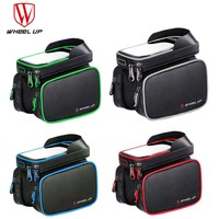 WHEEL UP Waterproof Bicycle Bike Bag Front Frame 6 2 Inch Cell Phone TPU Cycling Bag