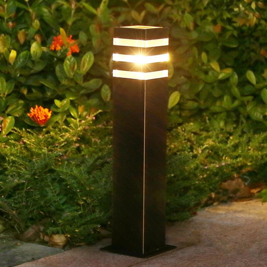 thrisdar jardim ao ar livre caminho gramado luz e27 villa patio pilar gramado lampada de aluminio