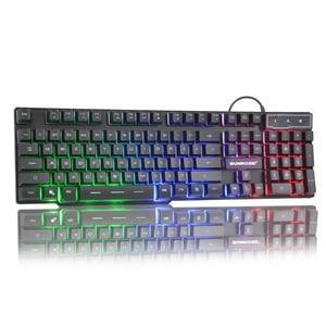 Image 3 - Teclado USB para juegos por cable, 104 teclas, diseño en inglés ruso, teclado brillante arcoíris para ordenador portátil, ordenador portátil