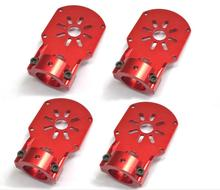 4Pcs Red Aluminium Alloy Motor Mount Holder for 18mm Carbon Glass Fiber Tube