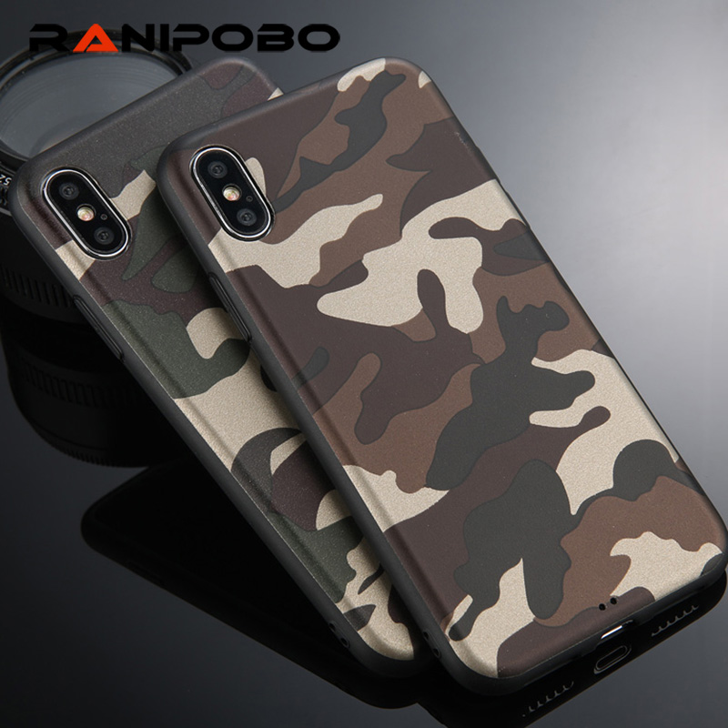 various colors 83dde 27745 US $1.25 10% OFF|Cool Army Camo Camouflage Phone Cases For iPhone XS Max XR  XS X For iPhone 6 6S 8 7 Plus X ArmyGreen Leather Soft TPU Cover Case-in ...