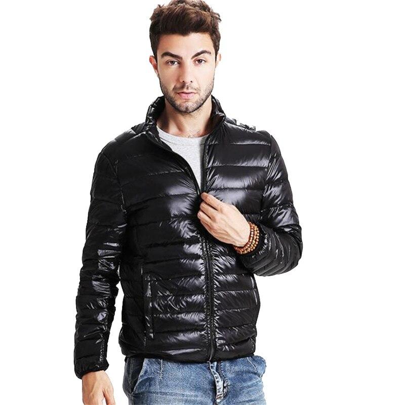 2016 Yeni Mens 91%-95% Beyaz Ördek Aşağı Ceket Kış P5056 için Ultralight Aşağı Sıcak Ceket