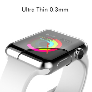 Image 3 - Fundas transparentes de silicona para Apple Watch Series 3, 2, 42mm, 100 Uds.