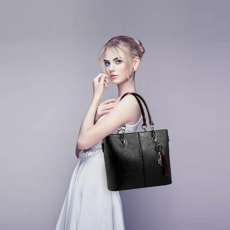 gray Signore Sacchetto Donne Della Cuoio Mano borse Del Di Beau brown Solid Per Black Borsa Spalla Delle Le Trucco wgUq0npH