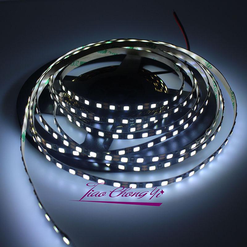 5mm Width 2835 SMD Black PCB Flexible LED Strip Light 12V DC 120leds/m  white Wram white 50M best price led strip light 2835 flexible light 3w 6w lighting indoor decoration home sensor light new style