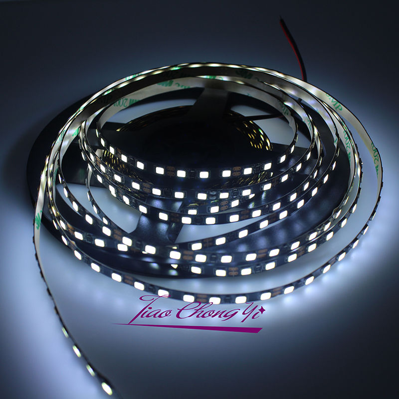 5mm largeur 2835 SMD noir PCB Flexible LED bande lumineuse 12 V DC 120 LED s/m blanc Wram blanc 50 M