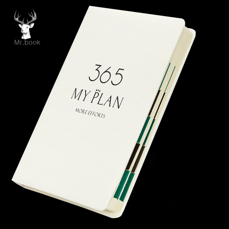 2019 365 Days Schedule PortableYearly Diary Weekly Monthly Daily Planner Organizer PU Leather Cover Paper Notebook B6/A5 Agendas