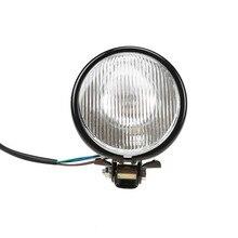 Retro 5″ Motorcycle Front Headlight Motorbike Motocross Headlamp Amber Light Universal For Harley Bobber Chopper Honda Touring